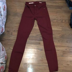 GAP DENIM - RESOLUTION TRUE SKINNY RED JEANS